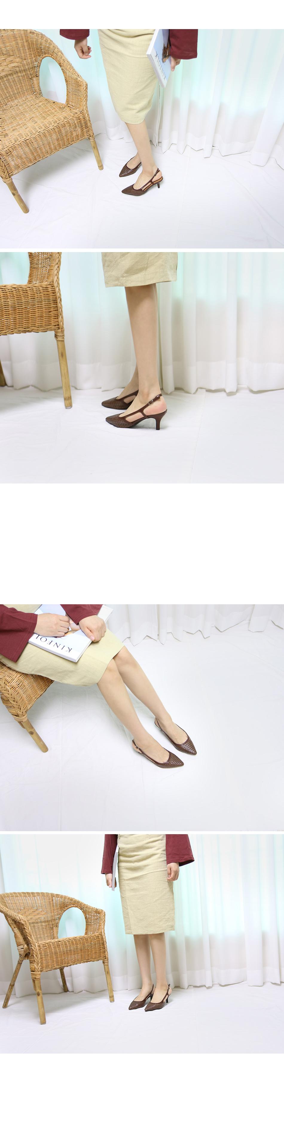 세톤 메쉬 슬링백 샌들힐 착용컷