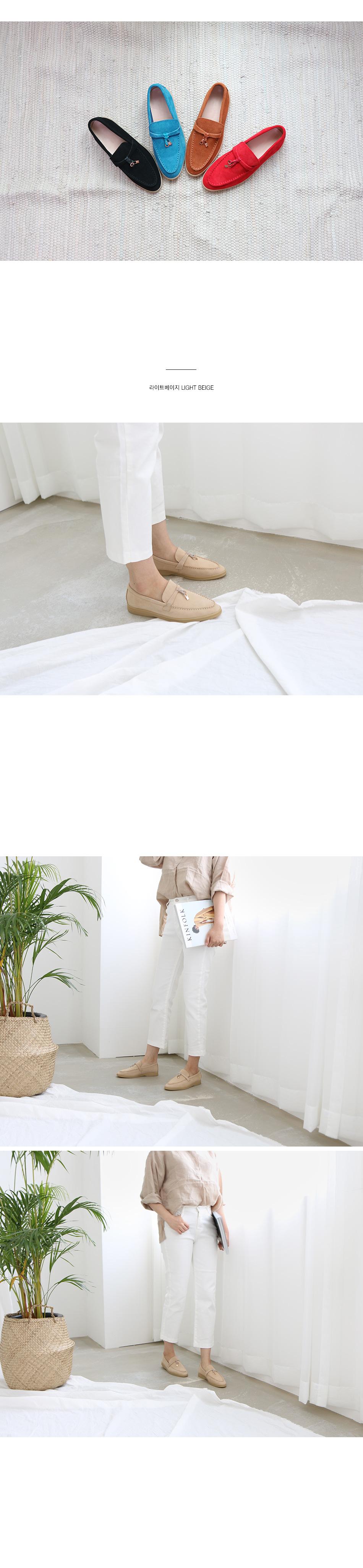 엘콘 천연가죽 로퍼 착용컷