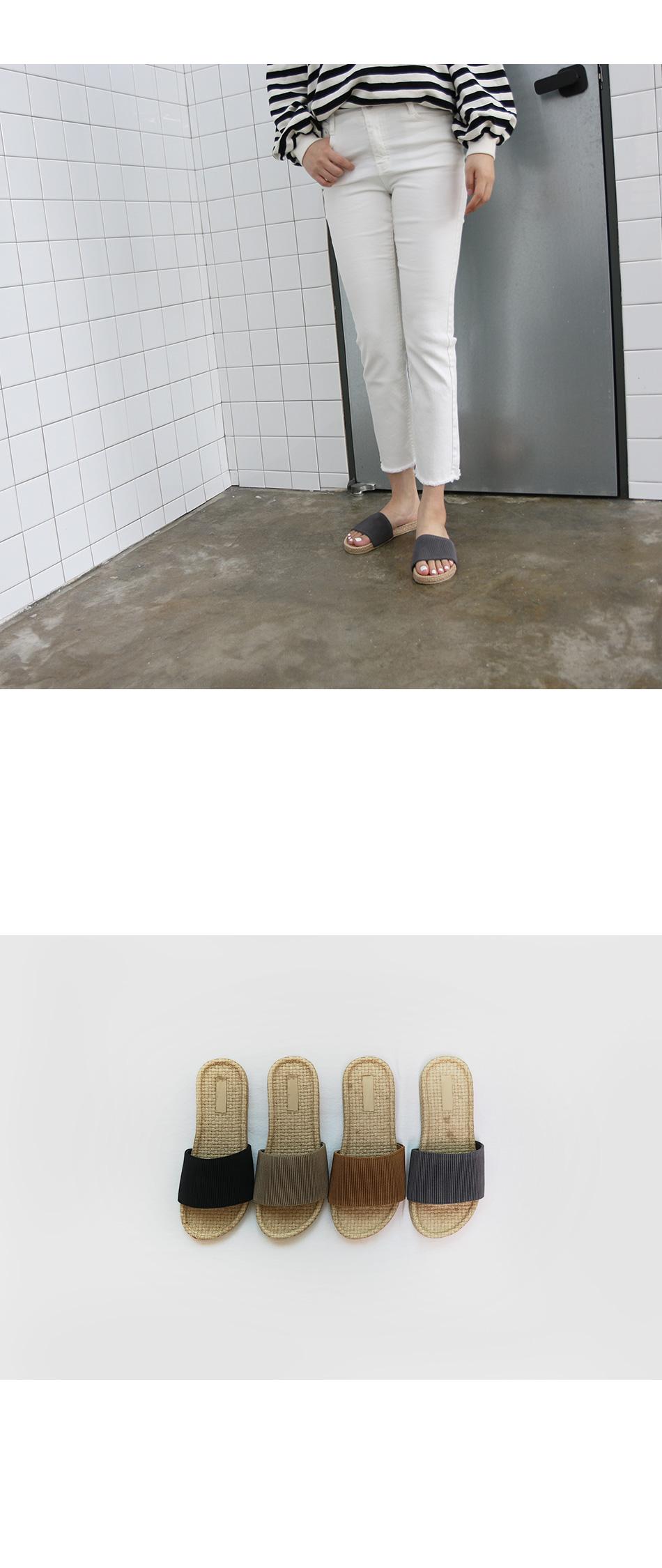 포뎁 베이직 슬리퍼 착용컷