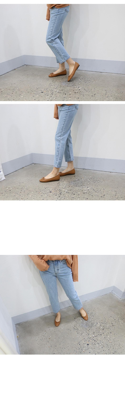 제이토 리본 플랫슈즈 착용컷
