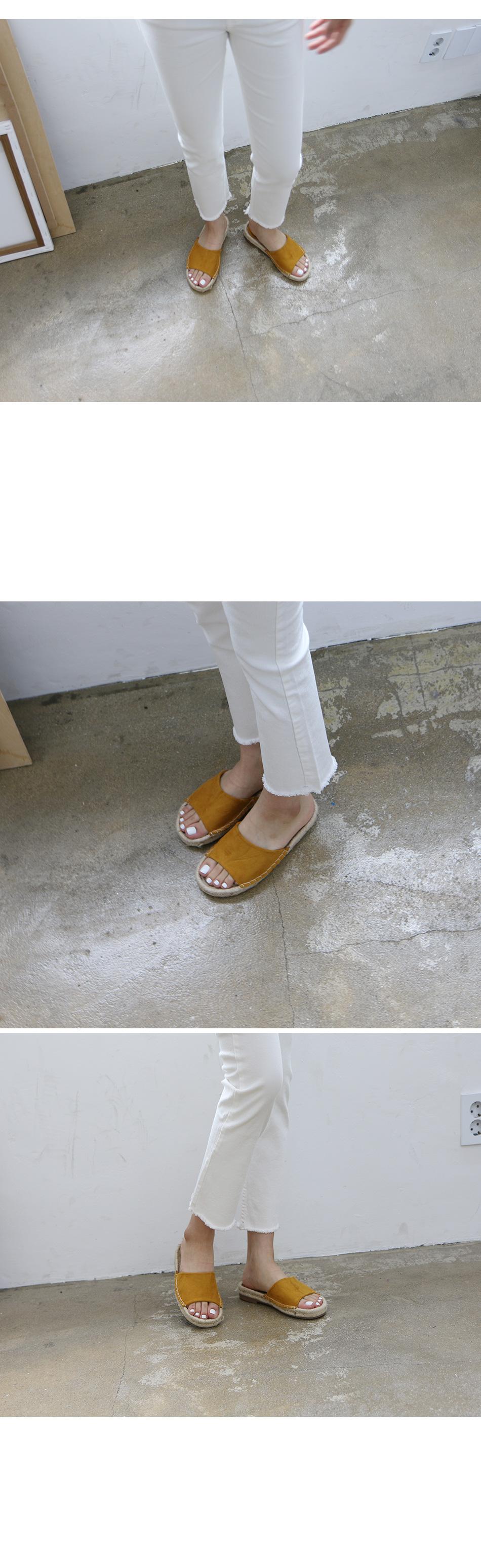 카보나 에스빠듀 슬리퍼 착용컷
