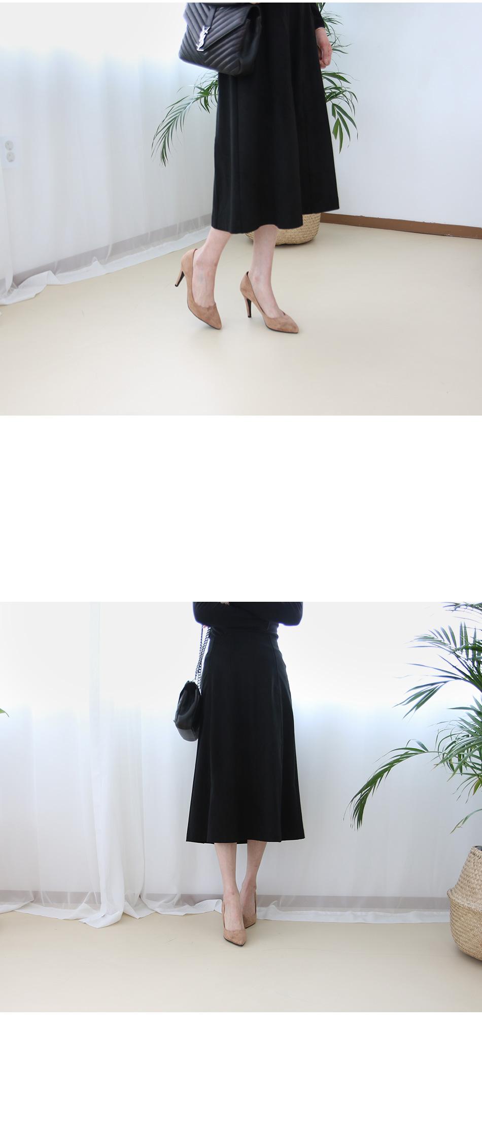 키트라 스웨이드 펌프스힐 착용컷