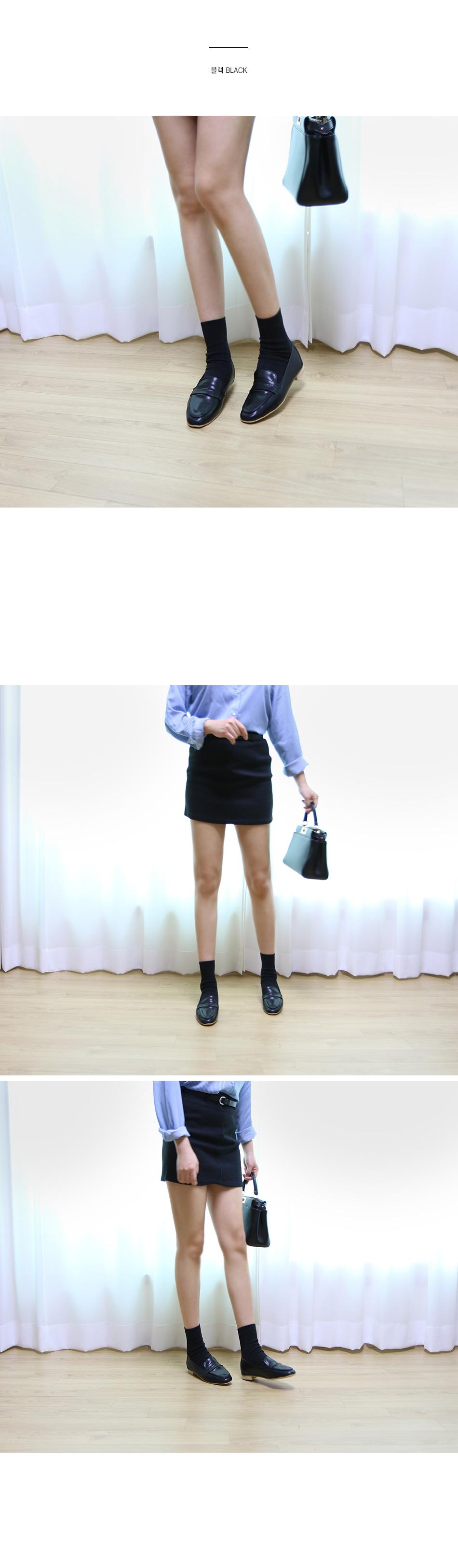 레니온 베이직 페니 로퍼 착용컷