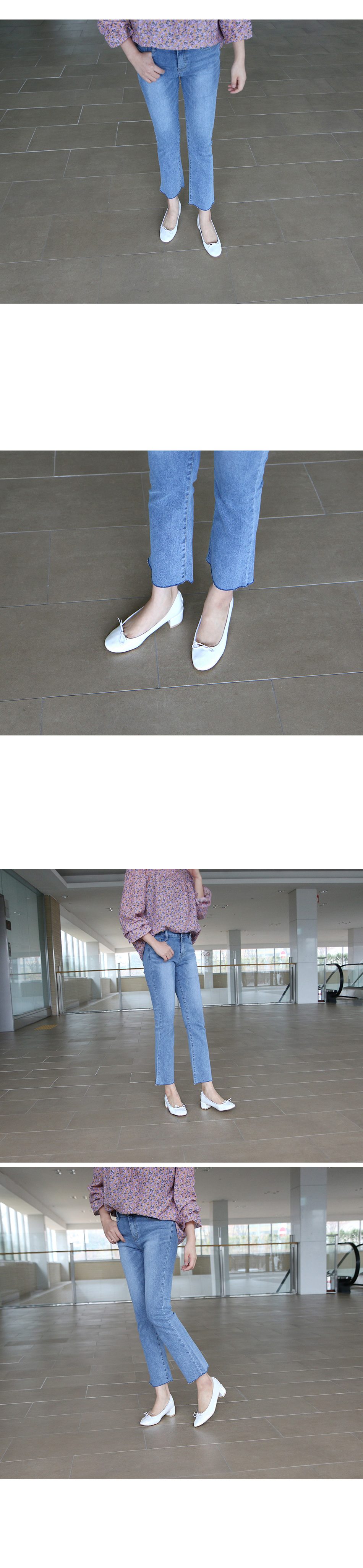 로펠드 에나멜 리본 플랫슈즈 착용컷