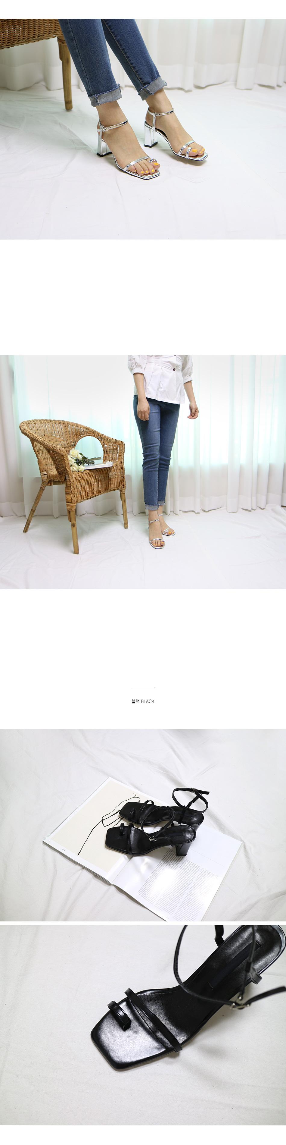 페콤 스트랩 쪼리 샌들힐 착용컷
