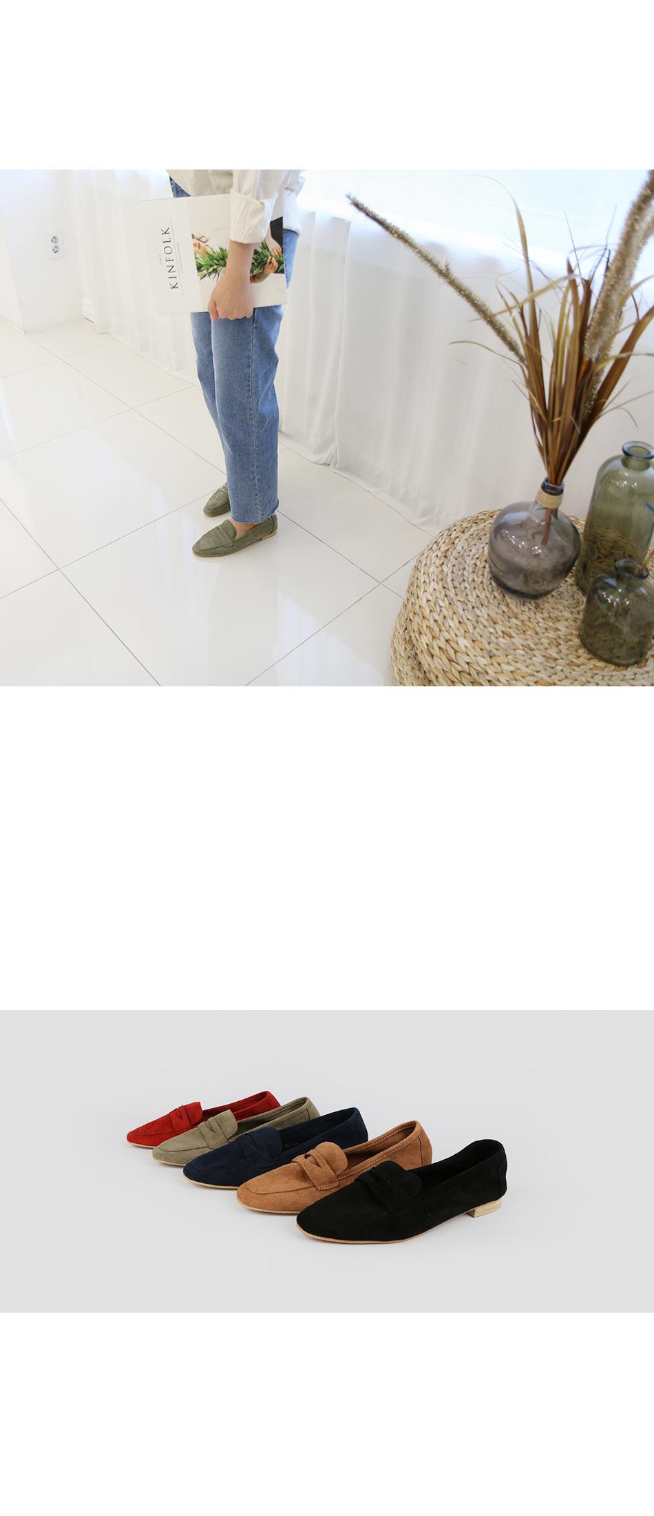 포키오 스웨이드 페니로퍼 착용컷