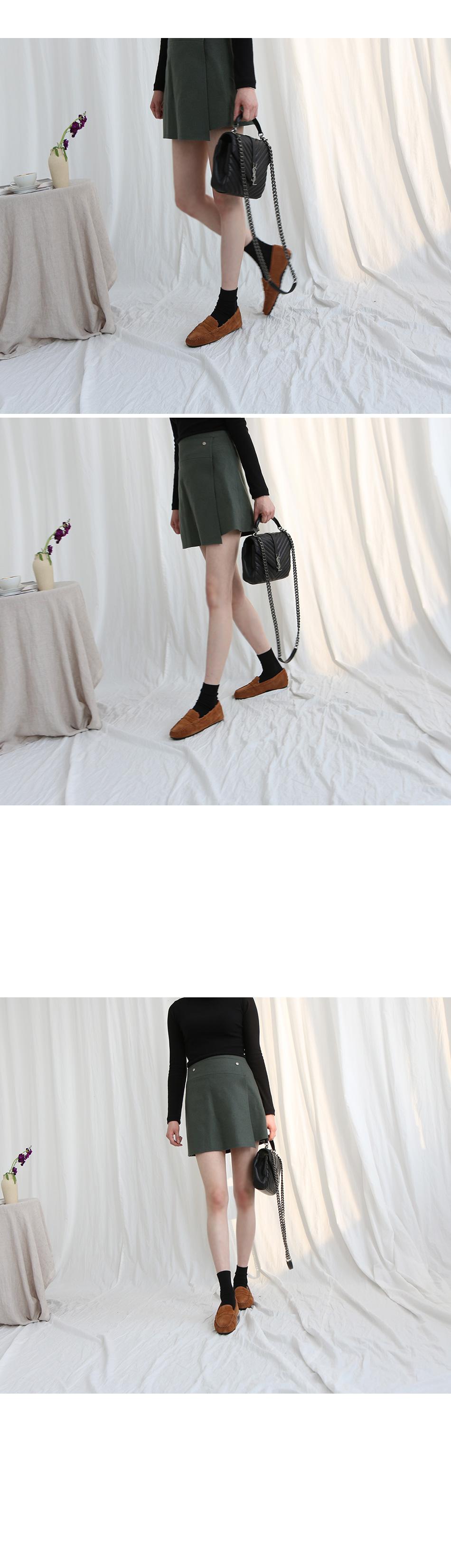 레도슨 털안감 천연가죽 페니 로퍼 착용컷