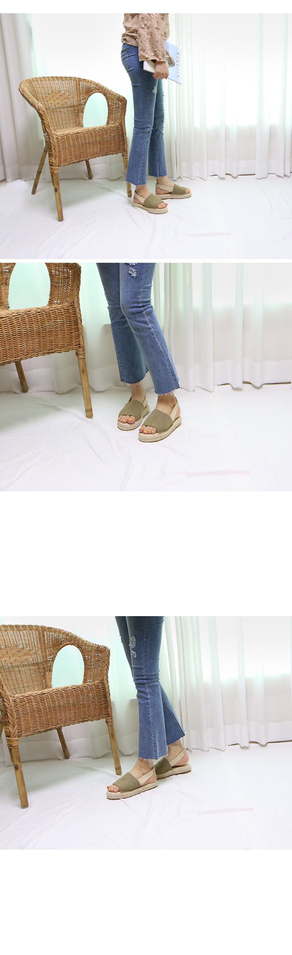솔리모 에스빠드류 슬링백 샌들 착용컷