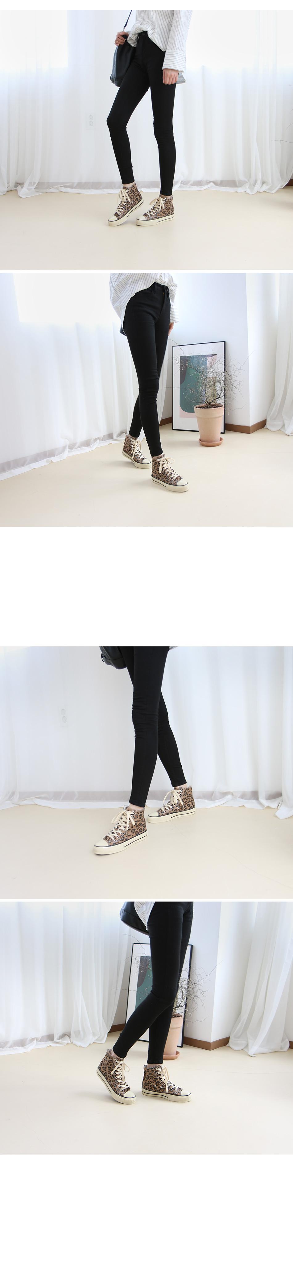 자바토 레오파드 스니커즈 착용컷